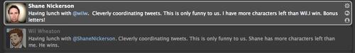Simultaneous tweeting