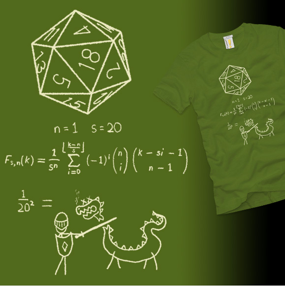 The Science of 20-sided Dice at shirt.woot.com